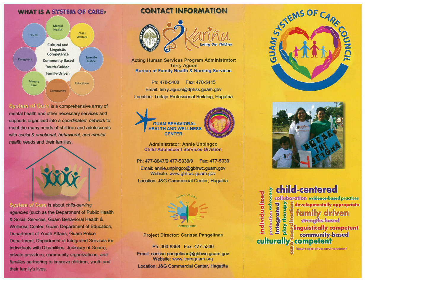 Guam System Of Care Council Brochure Guam Behavioral Health And - Guam location
